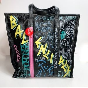 Balenciaga || Graffiti Bazar Tote Bag Medium Size